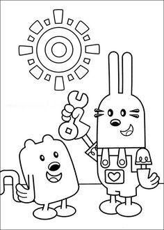 Wow Wubbzy Coloring Pages 14 Online Books For