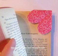Valentine Heart Corner Bookmark