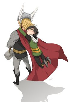 Thor and little Loki, how cute!! :)