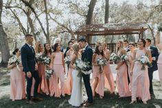 Blush Napa Valley Wedding at Silverado Resort Blush Bridesmaid Dresses, Bridesmaids And Groomsmen, Wedding Bridesmaids, Wedding Blush, Navy Suits Groomsmen, Dream Wedding, Groomsmen Colours, Spring Wedding Colors, California Wedding
