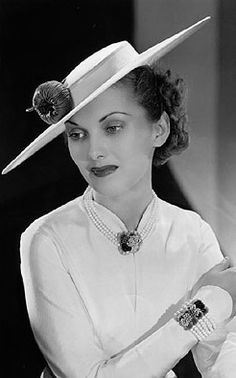 """Anita Colby actress and top model of the 1930s and 40s. She was known as """"The Face""""."""