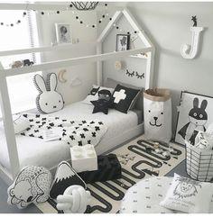 12 Best Montessori Bedroom Design Idea for Your Beloved Child 5 Baby Bedroom, Baby Boy Rooms, Girls Bedroom, Dream Bedroom, Toddler Rooms, Toddler Bed, Kids Rooms, Montessori Bedroom, Kids Room Design