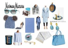 """The Holiday Wish List With Neiman Marcus: Contest Entry:Blue Christmas"" by tranise-coryell ❤ liked on Polyvore featuring Marco Bicego, Neiman Marcus, Smythson, Fendi, Diptyque, Eugenia Kim, Burberry, J Brand, Prada and Paige Novick"