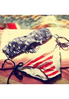 Cute Stars & Stripes Bikini