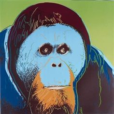 View Orangutan, for Endangered Species (F. By Andy Warhol; Access more artwork lots and estimated & realized auction prices on MutualArt. Andy Warhol Pop Art, Andy Warhol Works, Andy Warhol Drawings, Andy Warhol Prints, Andy Warhol Museum, James Rosenquist, Jasper Johns, Endangered Species, Artist Art