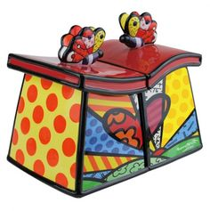 A New Day 2Pc Canister Set - Romero Britto