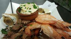 Bulots et duo de crevettes avec sa mayonnaise