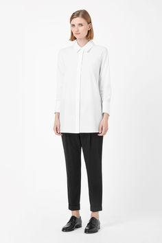 COS | Wide collar shirt