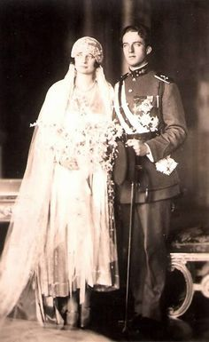Wedding of Leopold III and Astrid of Sweden | Unofficial Royalty-The couple on their wedding day, November 10, 1926