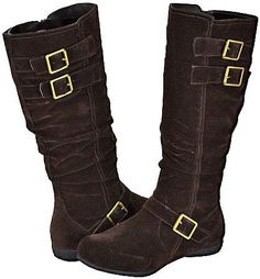 Blossom Bruno-6 Brown Faux Suede Women Casual Boots