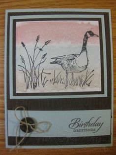 Painter's Tape Technique; Handmade Cards; Wetlands Stamp Set; Stampin' Up