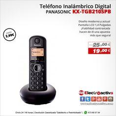 ¡Sencillo, fácil de usar y líder en su gama!! Teléfono Inalámbrico Panasonic KX-TGB 210SPB http://www.electroactiva.com/panasonic-kx-tgb210spb-telefono-inalambrico-digital-dect-single-identificacion-de-llamada-entrante-negro.html #Elmejorprecio #Telefono #Electronica