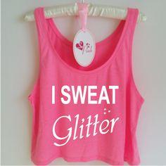 I Sweat Glitter Tank. Funny Gym Tank Top. Workout Tank. Running Tank. Workout Shirt. Gym Shirt. by SoPinkUK on Etsy