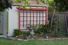 The New Grape Trellis Grape Vine Trellis, Grape Vines, Backyard Vineyard, Wall Trellis, Diy Spring Wreath, Backyard Projects, Yard Art, Organic Gardening, Garden Landscaping