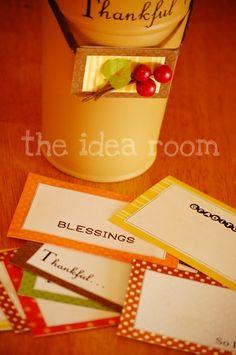 Thanksgiving Craft--Thankful Bucket