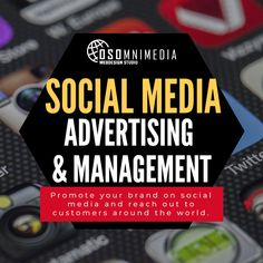 Promote your brand on social media and reach out to customers around the world. Promotion, Web Design, Advertising, Around The Worlds, Management, Social Media, Design Web, Social Networks, Website Designs