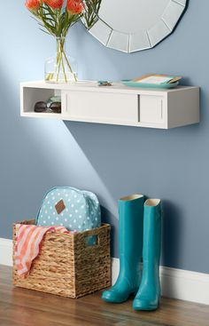 Add storage and display surface to any wall with this easy DIY floating shelf.