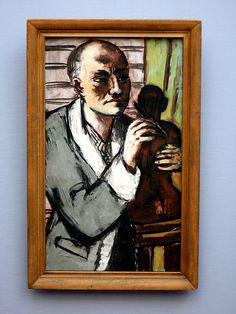 Max Beckmann - Self-portrait with Sculpture, 1941