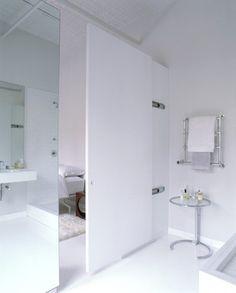 white open bathroom - Modern - Bathroom - New York - Loadingdock5 Architecture PLLC. ENSUITE DOOR