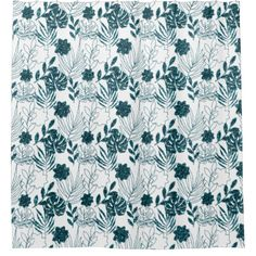Teal Tropical Monstera Botanical White Leafs Palm Shower Curtain Majestic Monstera Leaf products gifts and home goods featuring the giant leave called Monstera. Monstera Leaves, Urban Nature, Custom Shower Curtains, Leaf Art, White Glitter, Home Accents, Paper Goods, Home Goods, Palm
