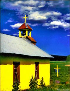 Chruch in Ocate, New Mexico in northern New Mexico