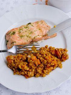 Červená čočka jako příloha | Pečení a vaření | Bloglovin' Vegetable Recipes, Vegetarian Recipes, Cooking Recipes, Healthy Recipes, A Food, Food And Drink, Clean Eating, Healthy Eating, Healthy Food