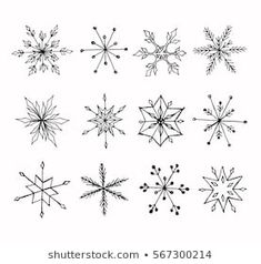 Find Handdrawn Doodle Snowflakes Set stock images in HD and millions of other royalty-free stock photos, illustrations and vectors in the Shutterstock collection. Snowflake Images, Snowflakes Art, Christmas Snowflakes, Christmas Art, Drawing Snowflakes, Xmas, January Bullet Journal, Bullet Journal Art, Bullet Journal Inspiration