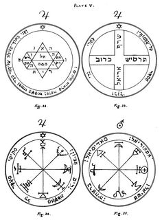 The Key of Solomon: Plates: Plate V.