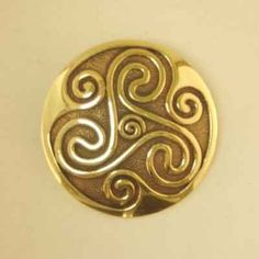 Image Detail for - Celtic Jewellery :: Bronze Brooches :: Triskelion-Spiral Brooch - J ...