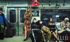 한국 디자이너 브랜드의 S/S 룩을 입은 패션 모델들이 서울의 진짜 놈코어 스타일이 있는 지하철 2호선으로 향했다. 군중 속에서 7팀의 패션 디자이너들을 찾는 재미는 덤이다.::화보,패션 화보,모델,지하철 화보,놈코어,패션 모델,패션 디자이너,권문수,카이,제이쿠,허환 시뮬레이션,로우 클래식,플레이울,아메리칸 어패럴,버버리 런던,캐스 키드슨,나이키,브룩스 브라더스,S.T듀퐁 파리, 제이미&벨,99퍼센트이즈,87MM,델보,자라,코치,미우 미우,생 로랑,투미,스타일 난다,김원중,박지운,허환,엘르,엘르걸,elle.co.kr::