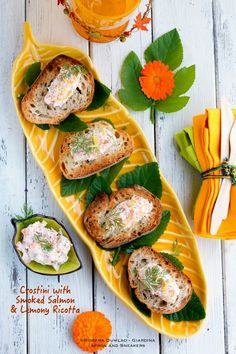 Apron and Sneakers - Cooking & Traveling in Italy and Beyond: Crostini with Smoked Salmon and Lemony Ricotta