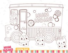 free num noms coloring pages activities for kids