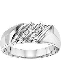 1 10 Carat T W Diamond Wedding Band In 10kt White Gold Weddingrings Diamond Wedding Bands Wedding Rings Diamond Wedding