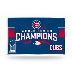Chicago Cubs Banner Flag 2016 World Series Champs