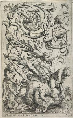 17th century - ornament model - grotesque etchings called: 'Disegni Varii di Polifilo Zancarli'