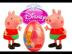 Peppa Pig Свинка Пеппа Masha i Medved open Disney Princess Cinderella Su...