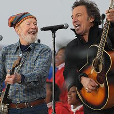 Pete Seeger Duets With Bruce Springsteen