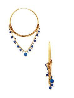 Lapis Drop Earrings by Chan Luu at Gilt