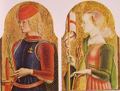 Registro superiore del Polittico di Ascoli  (o Polittico di Sant'Emidio). 1474. Tempera e oro su tavola.  Ascoli, Cattedrale