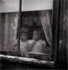 (Neighborhood: Hill District, Children at Window, Forbes and Marion Streets) CLYDE HARE (AMERICAN, JULY 11, 1927–OCTOBER 14, 2009) 1951