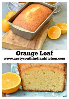 **Orange loaf which tastes like pound cake without any butter. Added t salt, putting OJ and sugar syrup on top then glazing with 1 TBS OJ cup powdered sugar tsp orange extract Quick Bread Recipes, Baking Recipes, Dessert Recipes, Dessert Bread, Cupcake Recipes, Appetizer Recipes, Orange Juice Cake, Orange Cakes, Fresh Orange Cake Recipe