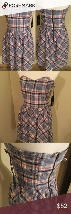 "NWT TOMMY HILFIGER Plaid Dress Size M NEW WITH TAGS TOMMY HILFIGER Tommy Girl Plaid Dress Size M Measurements - Bust (armpit to armpit): 16.5""; Waist: 14""; Length: 30"" Zipper in the back  {D12} Tommy Hilfiger Dresses Midi"