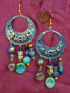 Boucles d'oreilles chandelier style par MesOdalisques sur Etsy, €15.00