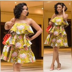 African women dress African print dress African fashion women midi dress Ankara dress ladies dress boho dress teared dress Made to order and shipped from Houston. Many other fabrics available Short African Dresses, Ankara Short Gown Styles, African Print Dresses, African Dress Designs, African Design, African Prints, African Style, African Fashion Ankara, Latest African Fashion Dresses