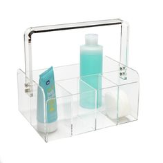 5-Section Acrylic Tote - great for carrying your toiletries!