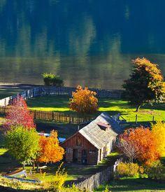 -Neuquén , Villa La Angostura , Argentina - Sus idilicos paisajes , sus arboles de frutas finas creciendo por todos lados te cautivarán . . .