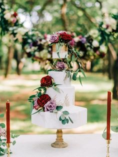 White geometric cake