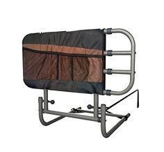 """Stander EZ Adjust & Pivoting Home Bed Rail + 3 pocket organizer pouch + Adjustable in Length to 26""""-34""""-42"""" + Included Safety Strap + Lifetime Gaurantee - $99.97"""