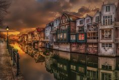 Reflections Of Gorinchem III - A beautiful sunset at Gorinchem on a nice and calm evening about 3 months ago......