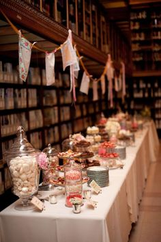 big time dessert table at james j. hill historic library wedding